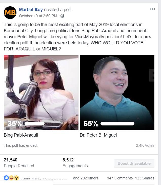 PAbi vs Miguel poll